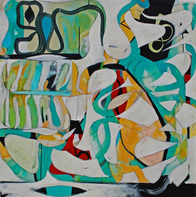 Amnesiac Acrylic & Oil on Canvas 48x48 1200.00 Dorn_Raul_1