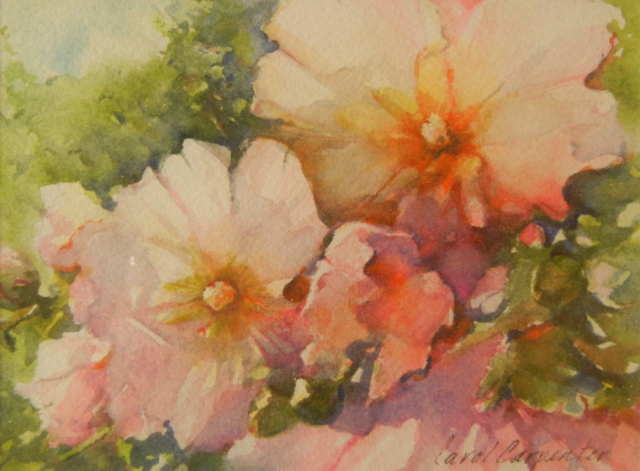 Hollyhocks, Carol Carpenter