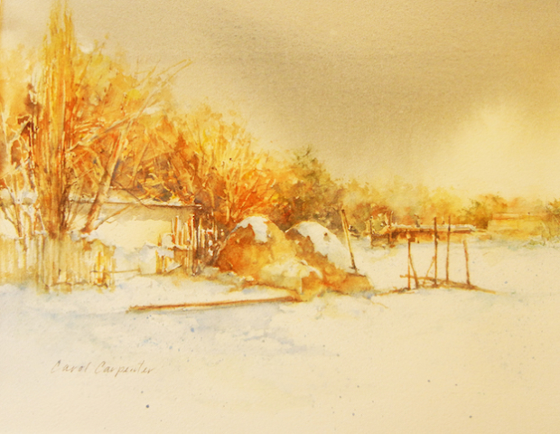 Hornos in Snow, Carol Carpenter