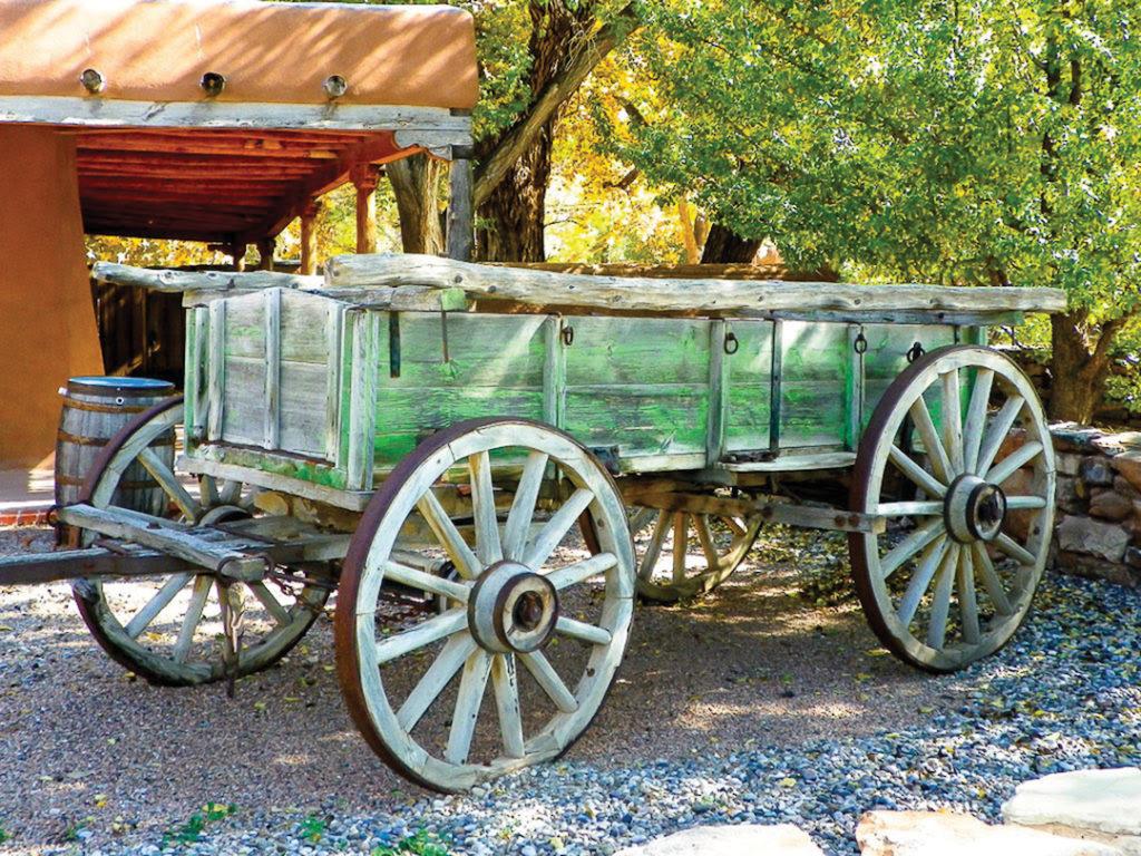 Marilyn Ortega, Rustic Wooden Wagon
