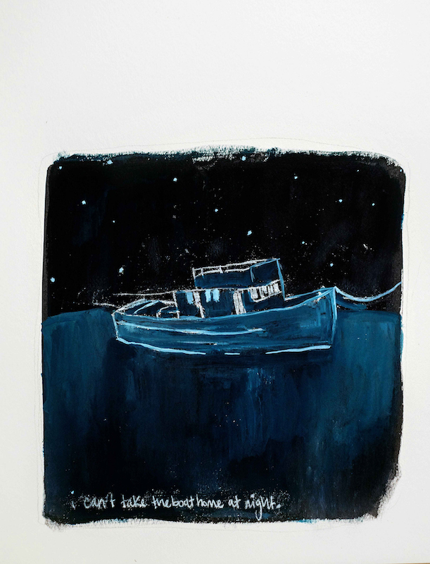 Zahra H. Marwan: The Boat at Night