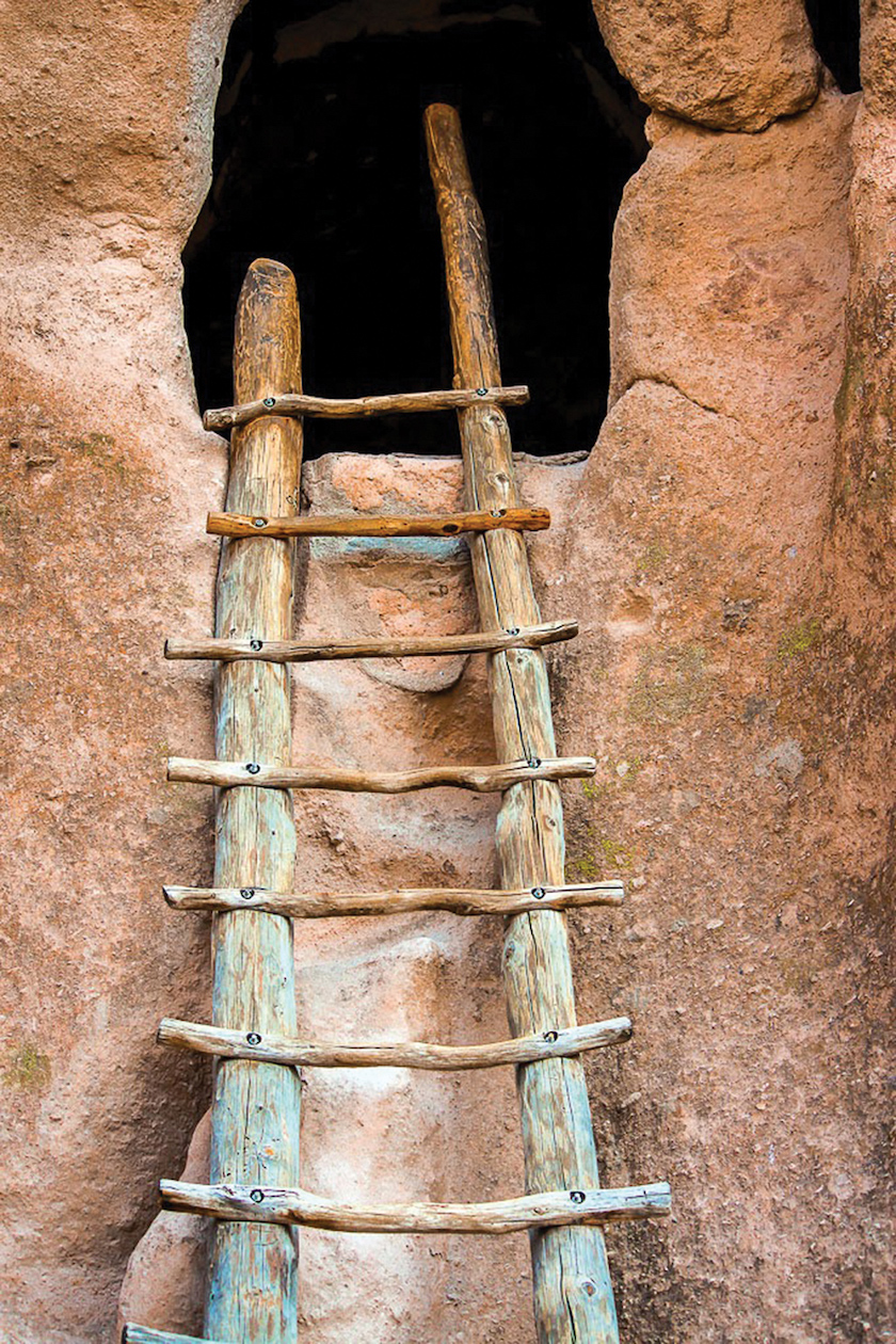 Marilyn Ortega, Weathered Kiva Ladder,  Bandelier