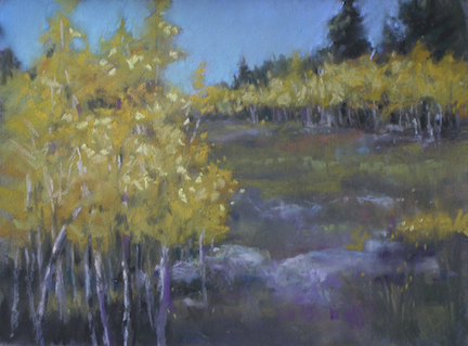 Marilyn Drake: Aspens on Sandia