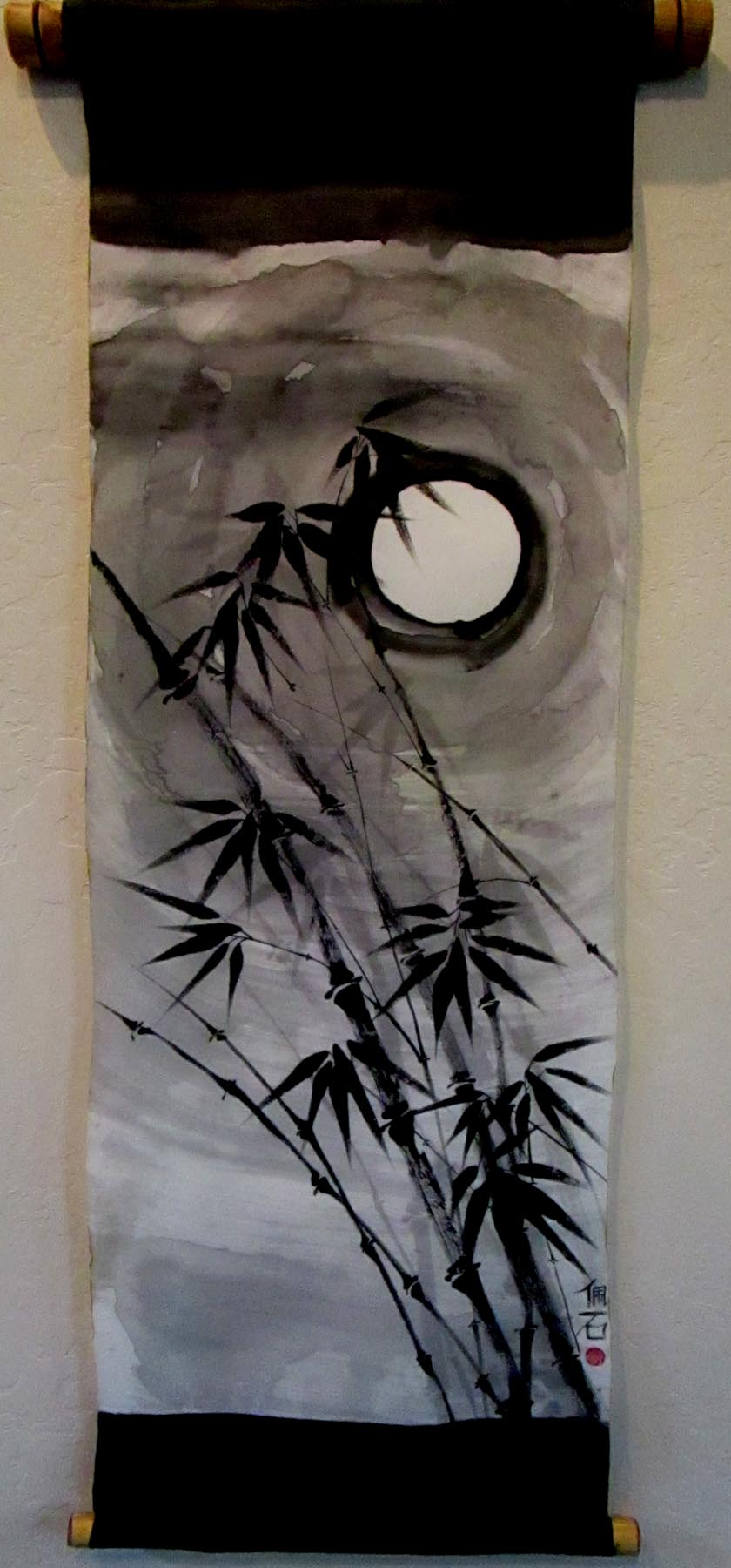 Pat Marsello: Bamboo & Moon Scroll
