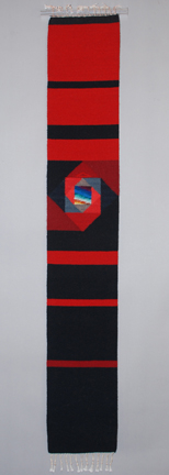 Donna Loraine Contractor: Black to Red, Straight Line Spiral Skinny