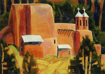 Alice Webb: Ranchos de Taos Iglesia