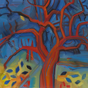 Alice Webb: Red Tree; After Mondrian