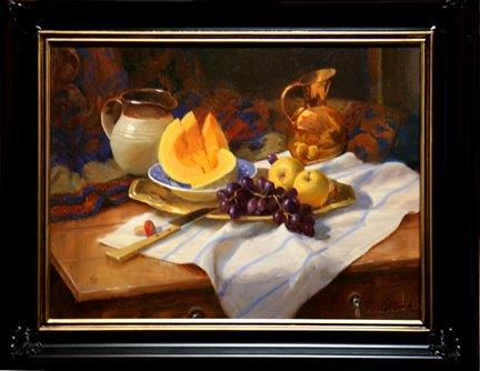 Robert Kuester: Still Life with Cantaloupe & Copper