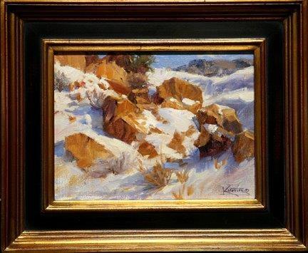Robert Kuester: Winter Sunlit Boulders