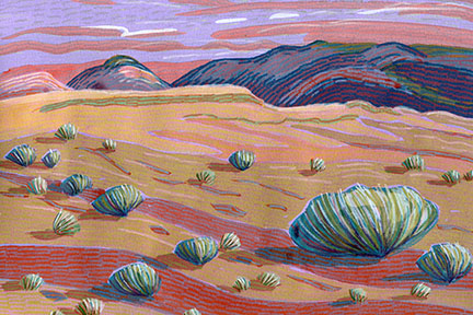 Carol Chamberland: Sunset Over Cannonball Mesa