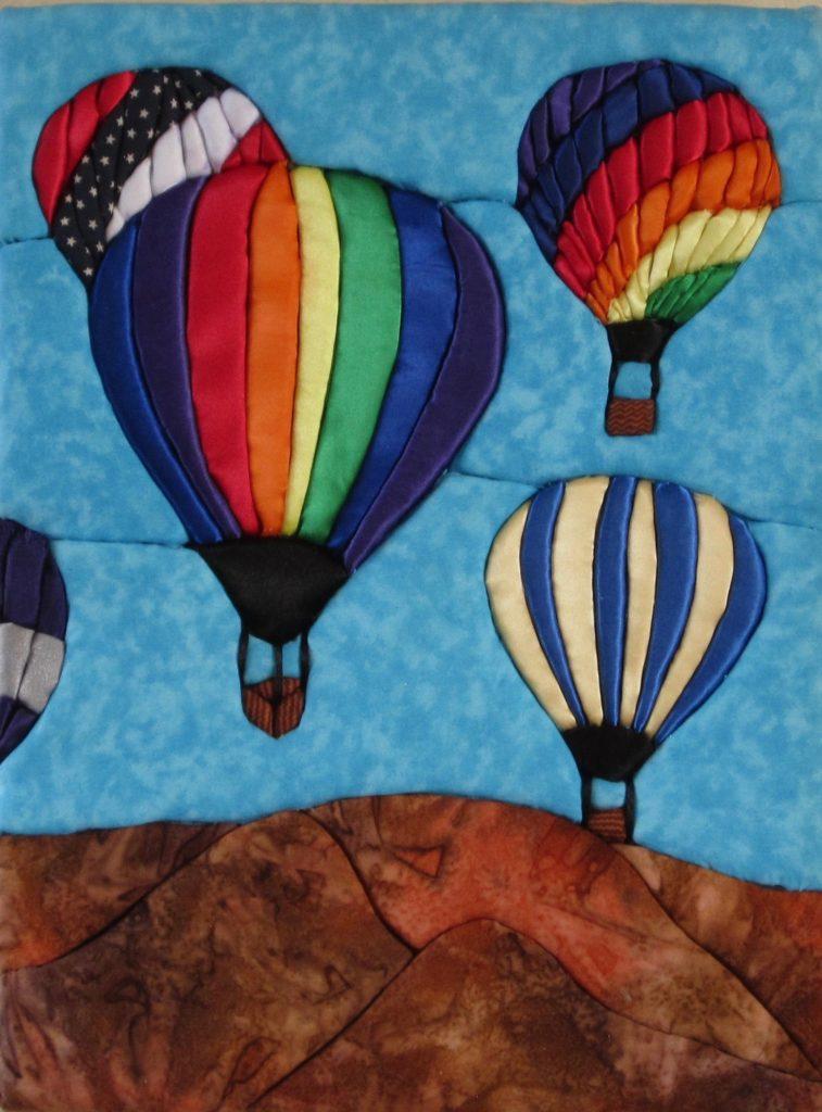 E. Cristina Diaz-Arntzen: Albuquerque Balloon Festival triptych (#2)