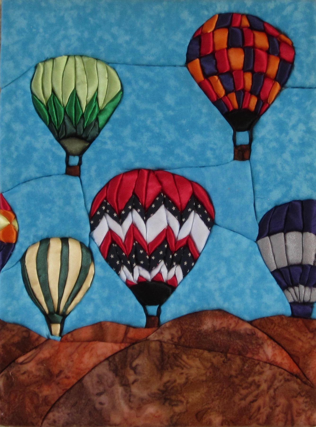 E. Cristina Diaz-Arntzen: Albuquerque Balloon Festival triptych (#3)