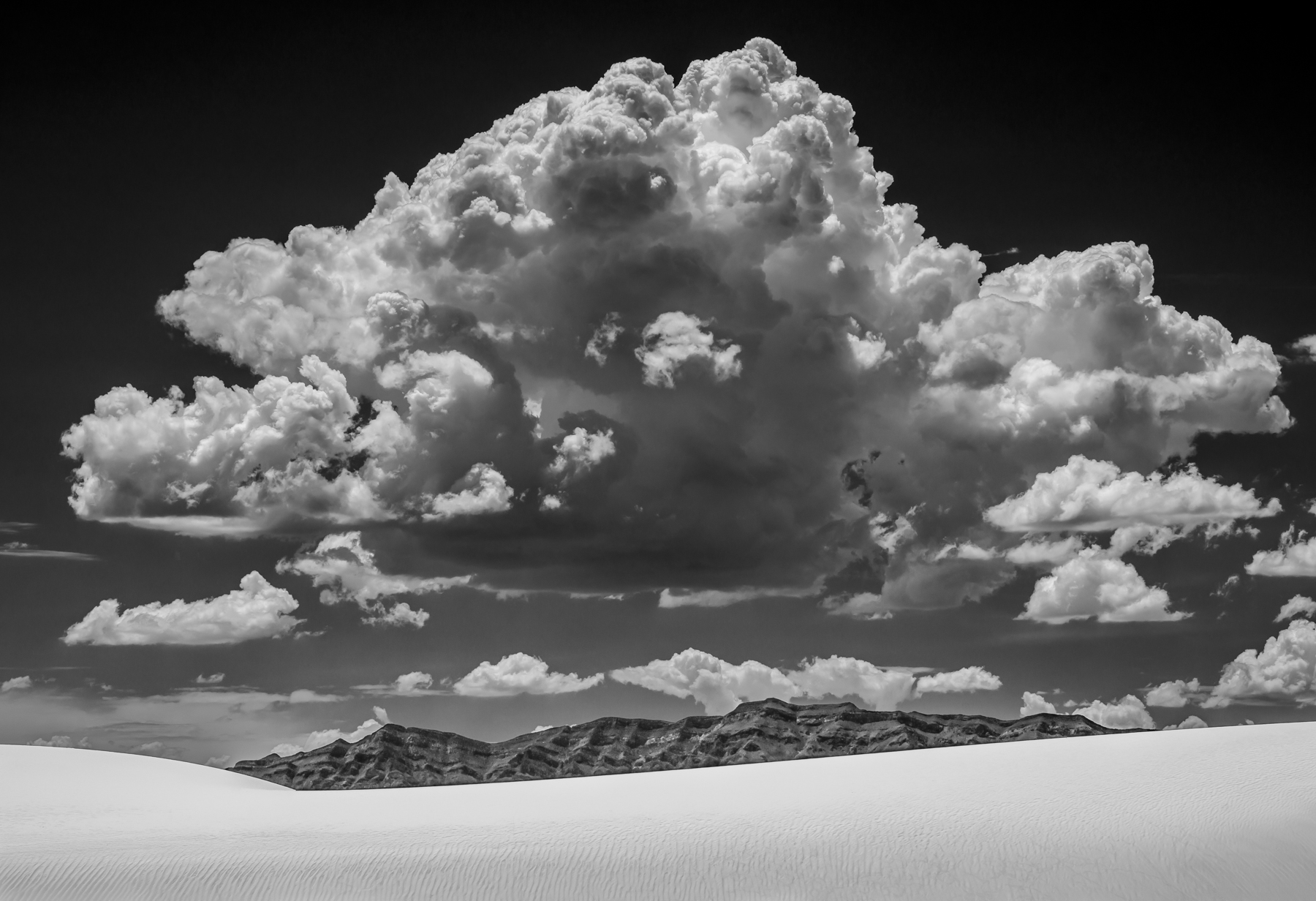 Stan Ford: Cloud Over White Sand
