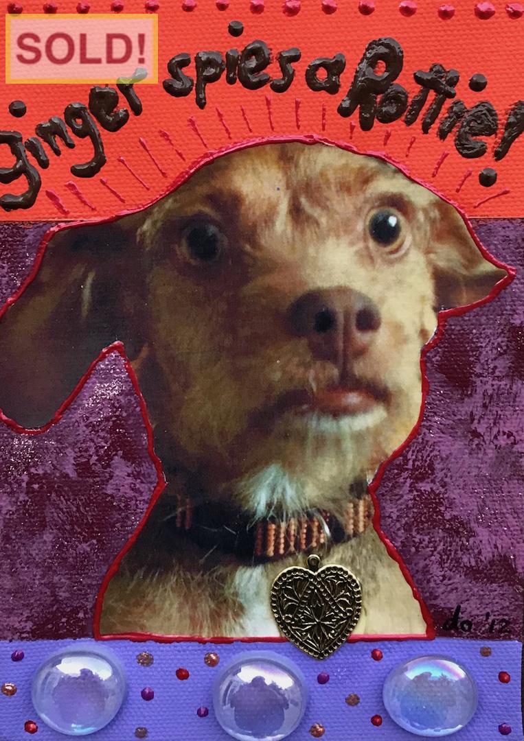 Deborah Openden: Ginger Spies a Rottie!