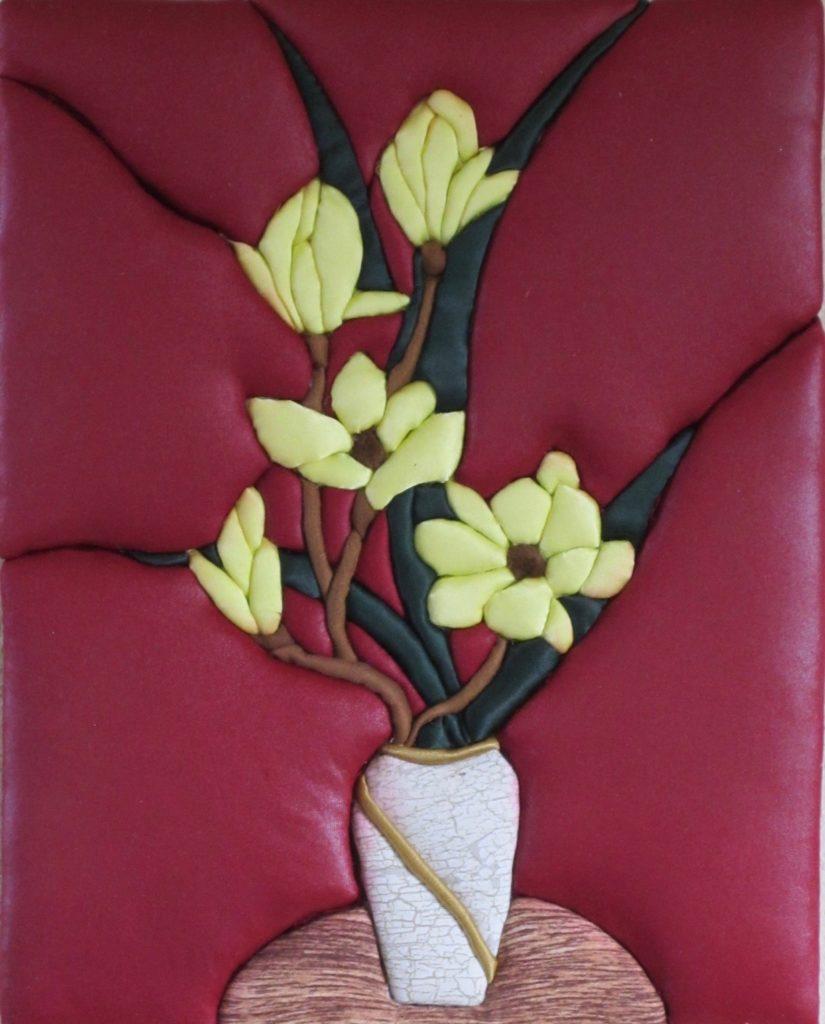 E. Cristina Diaz-Arntzen: Vase with Orchids
