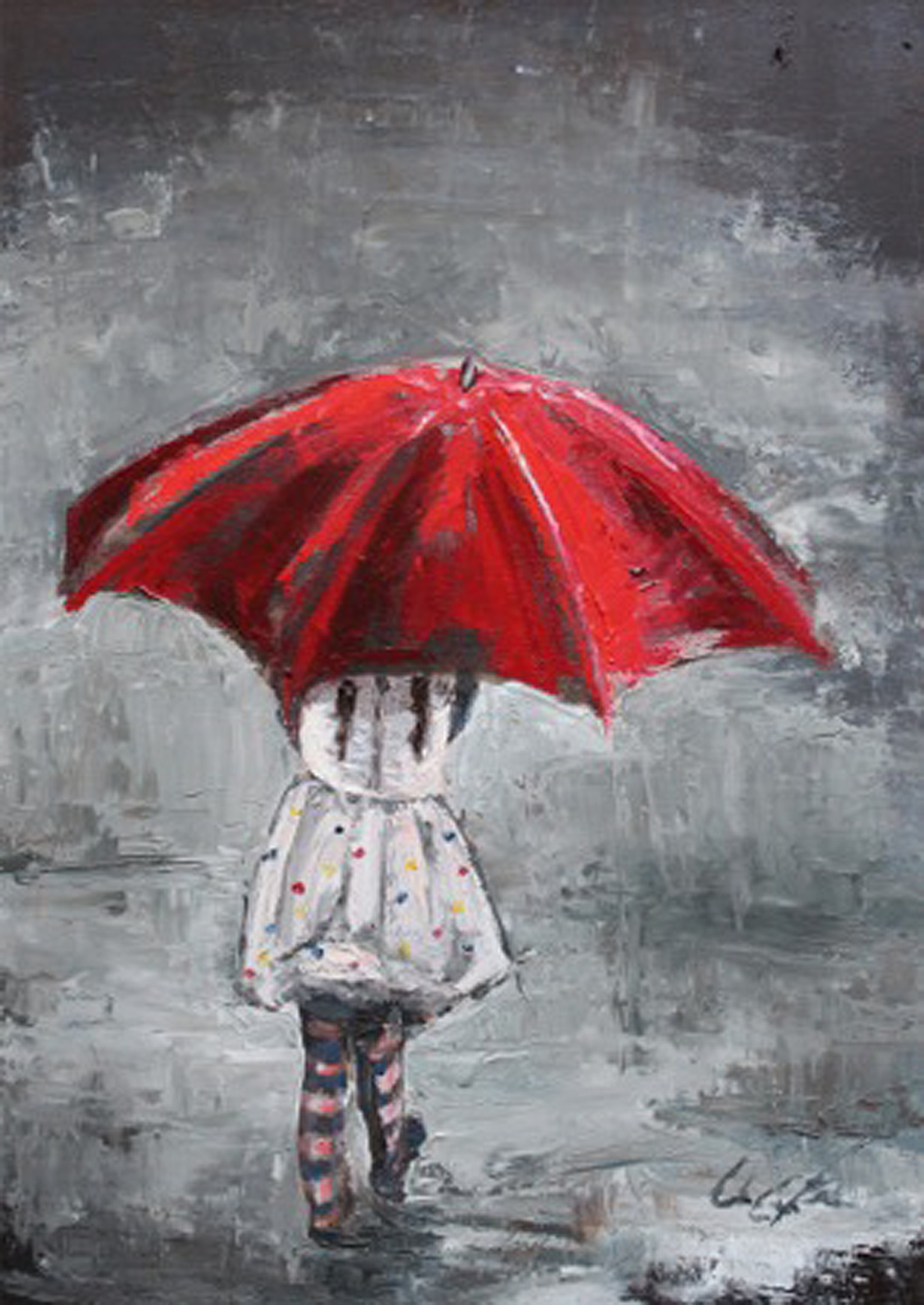 Gloria Blinn: Walking in Raindrops
