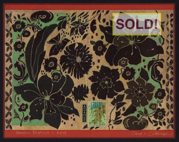 Carol L. Adamec: Garden Diptych 1  - SOLD!