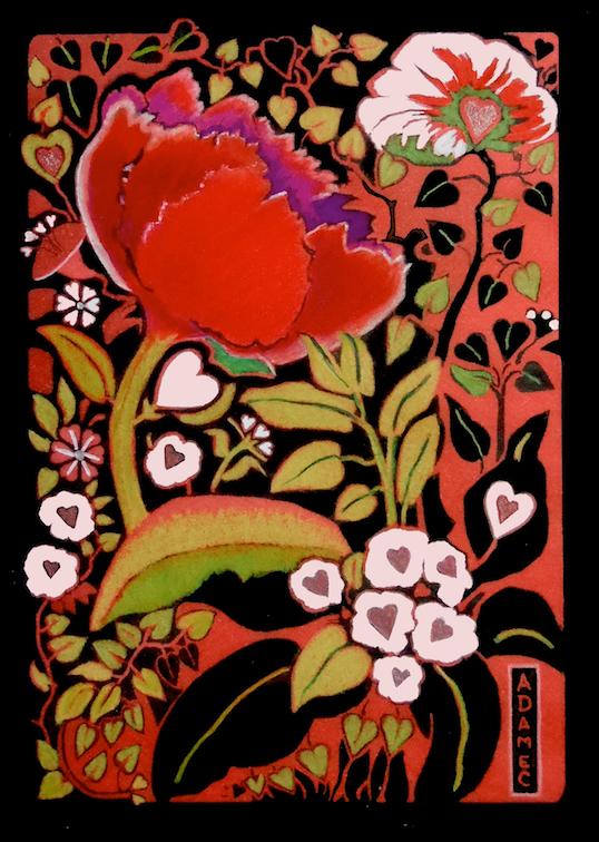 Carol L. Adamec: Hearts & Flowers #4
