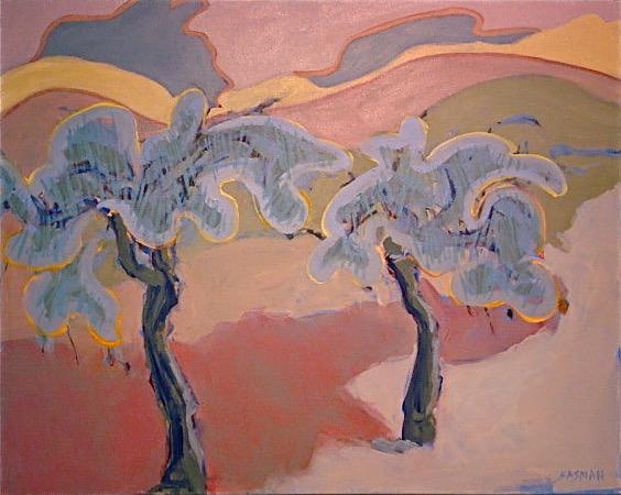 Edna Casman: Hillside Trees
