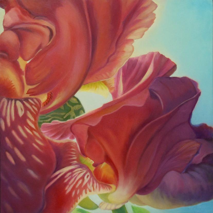 Carol L. Adamec: Red Iris Landscape