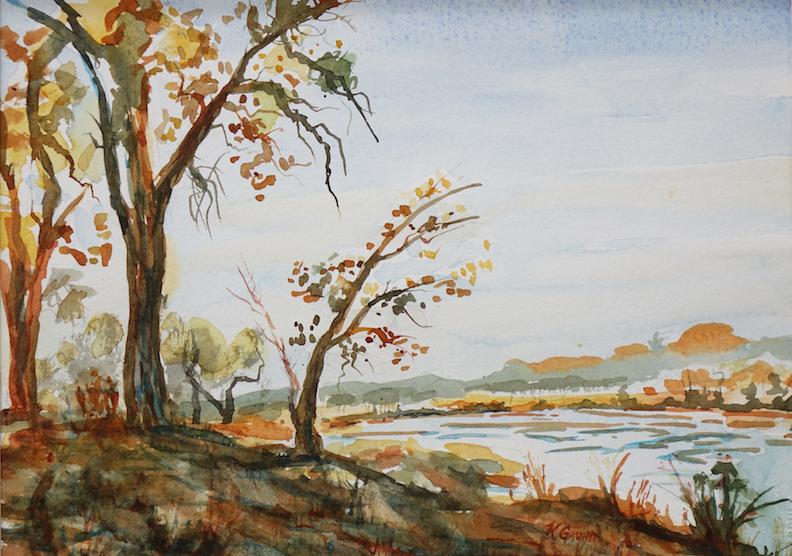 Katherine Gauntt: Autumn Trees on the Rio