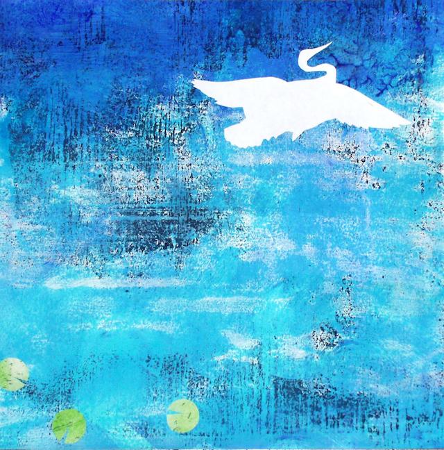Dan Noyes: Crane and Lillies