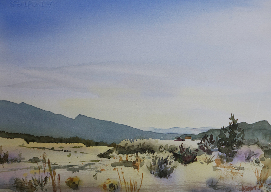 Katherine Gauntt: East View of the Sandias