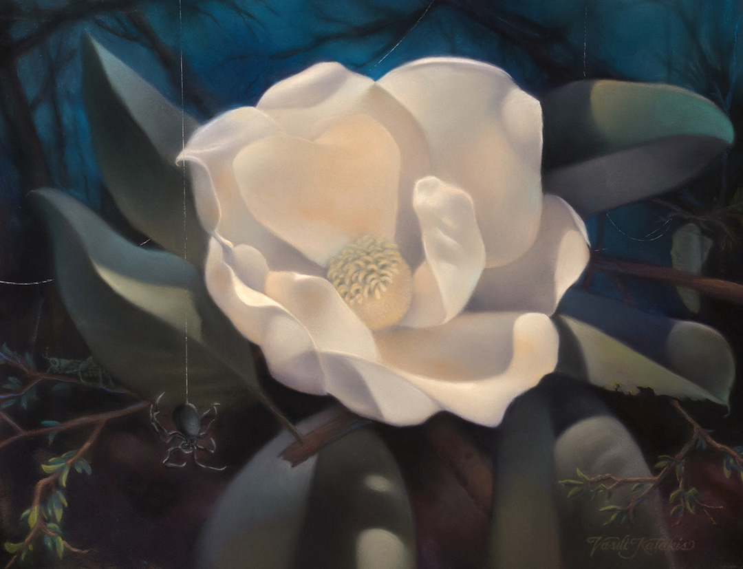 Vasili Katakis: Moonlit Rendezvous - Pastel
