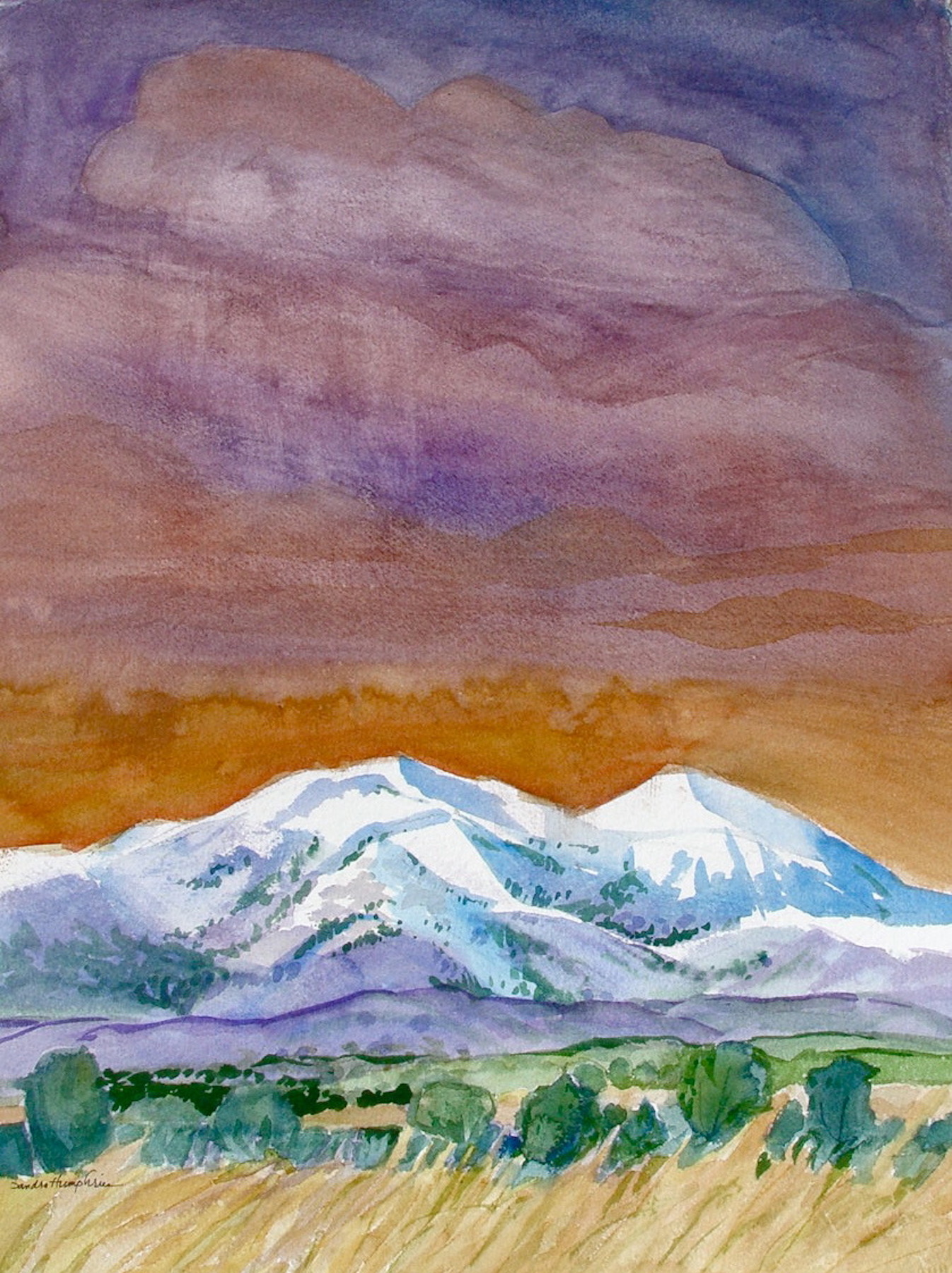Sandra Humphries: Mountain Snow