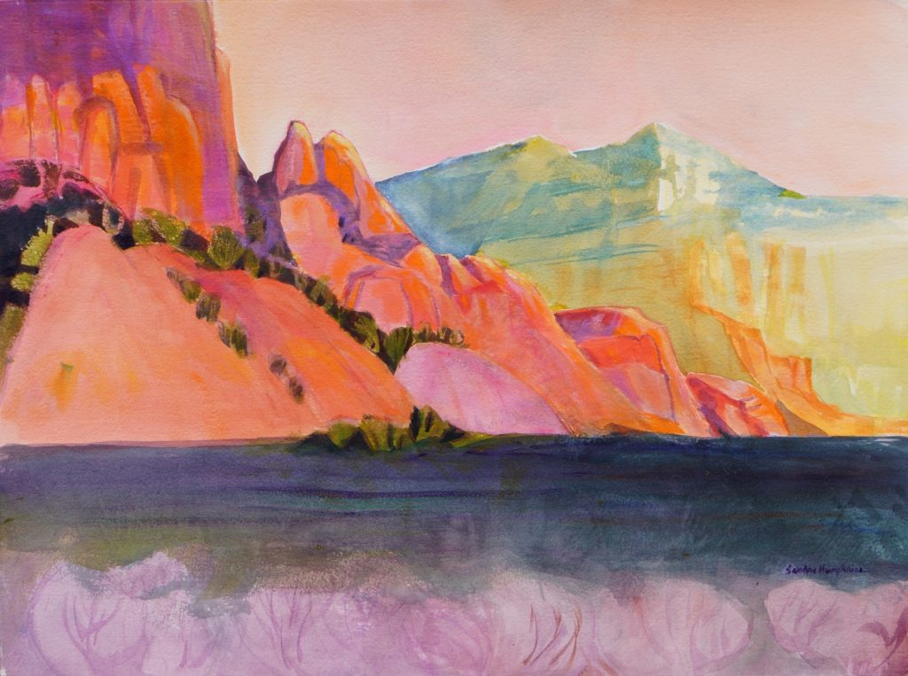 Sandra Humphries: Orange Cliffs