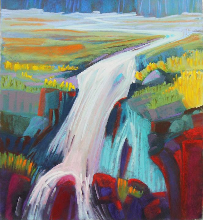 Lisa Zawadzki: Taos Waterfall