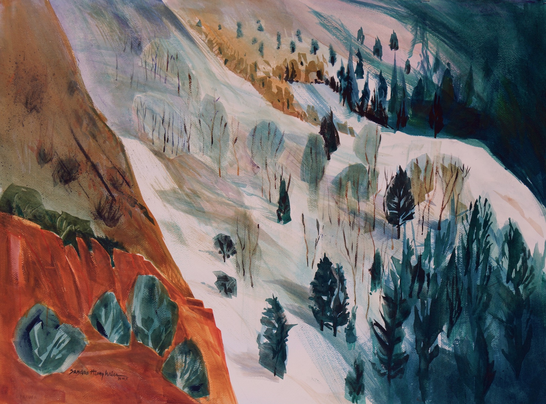 Sandra Humphries: Winter Snowscape