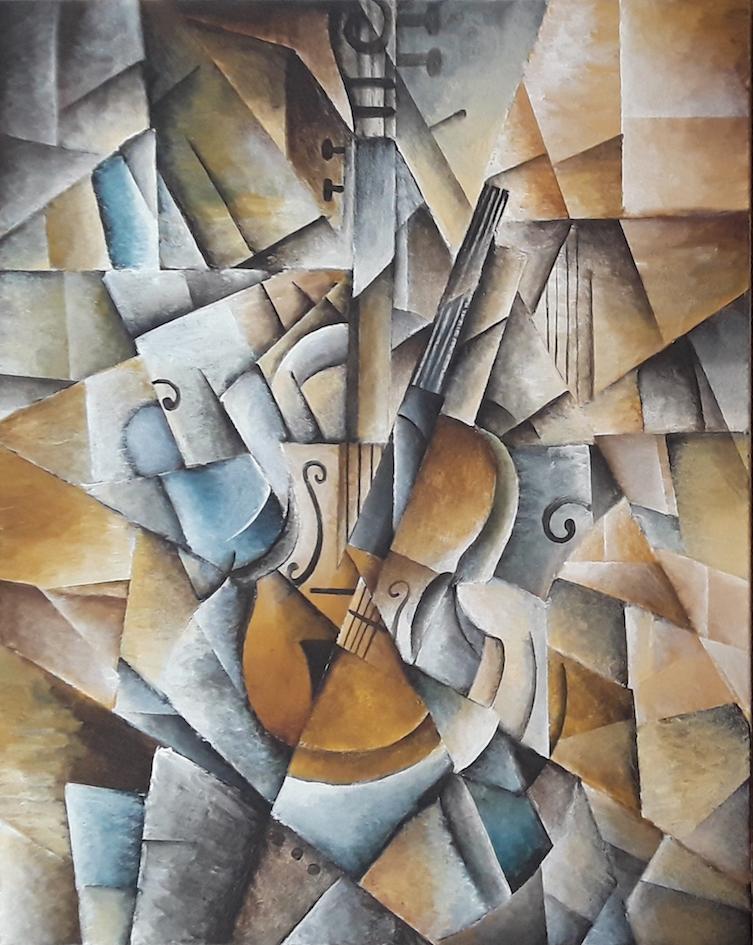Brandon Allebach: Echoes Cubist Violin