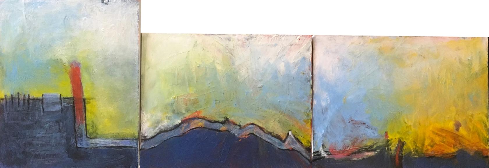 David S. McKee: Triptych Landscape