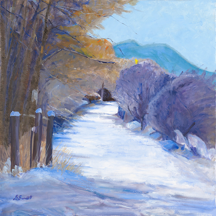 Barbara Barrett: Early Snow in Ranchos de Taos