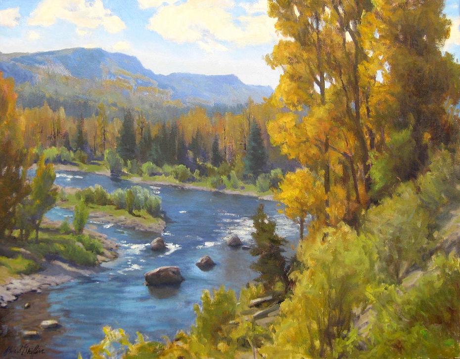 J. Waid Griffin: Conejos River Bend