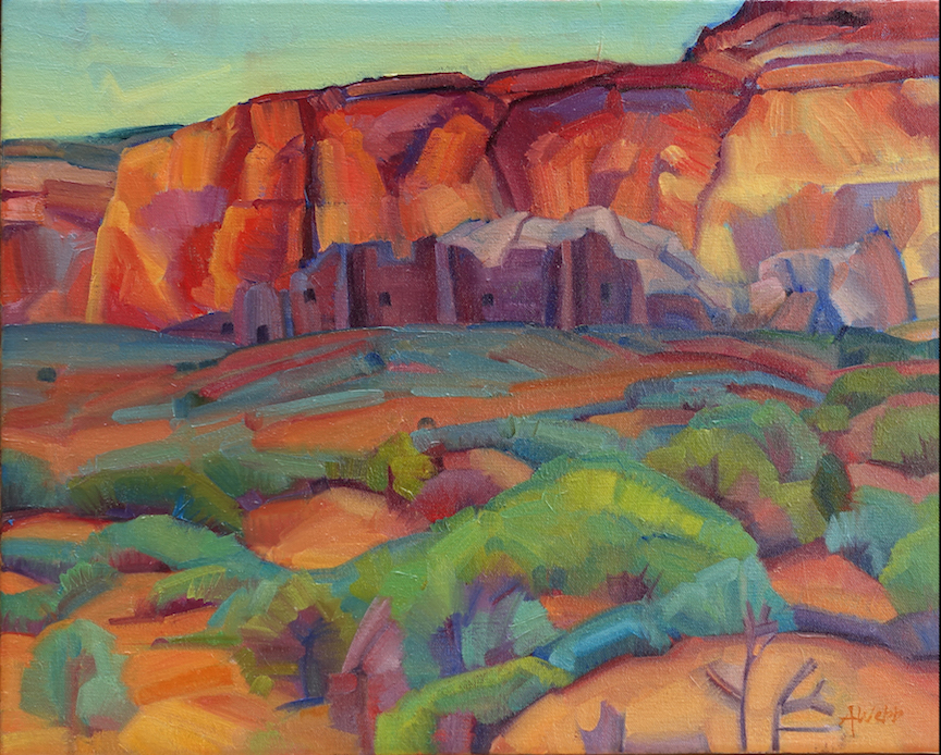 Alice Webb: Dusk in Chaco Canyon