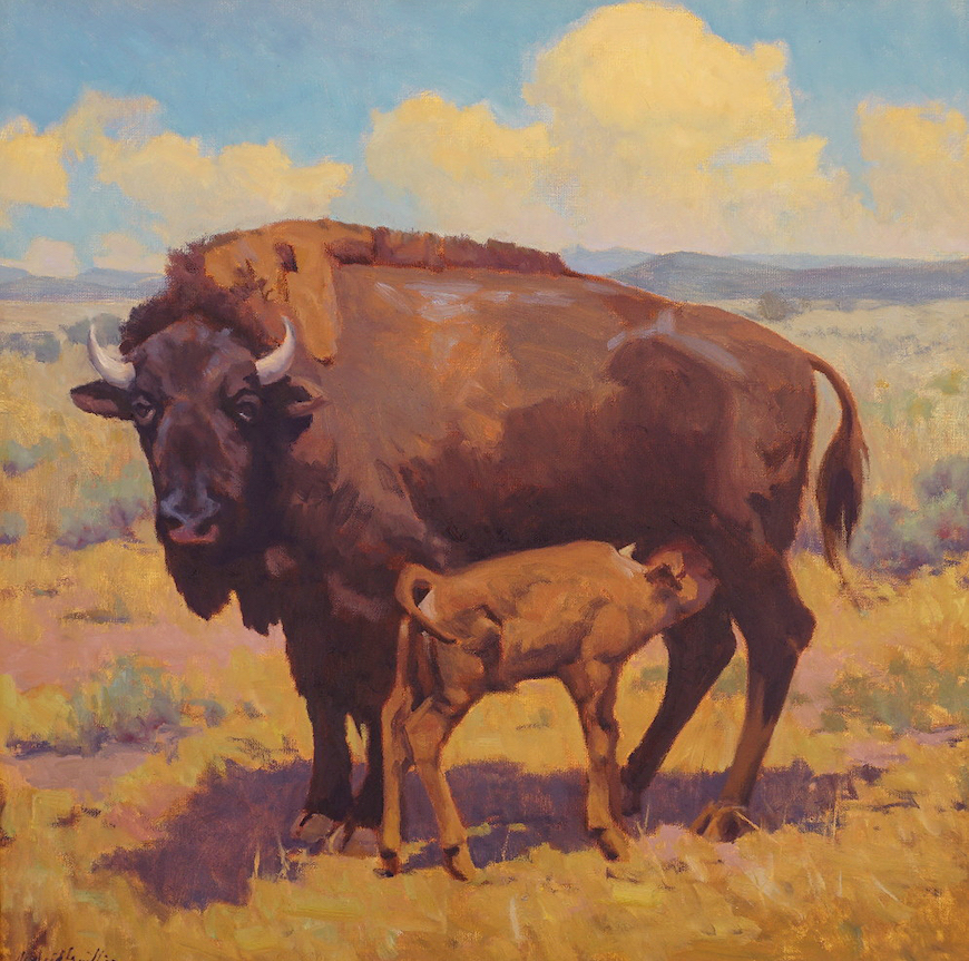 J. Waid Griffin: Prairie Life - Oil on Canvas
