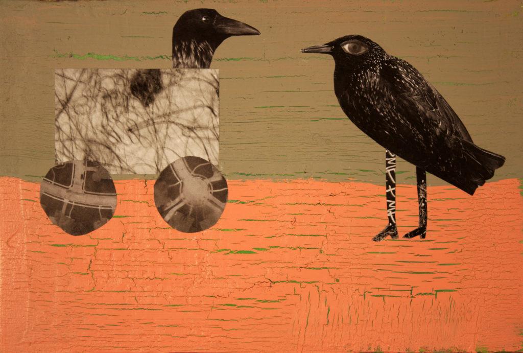 Holly Roberts: Two Birds - Mixed Media
