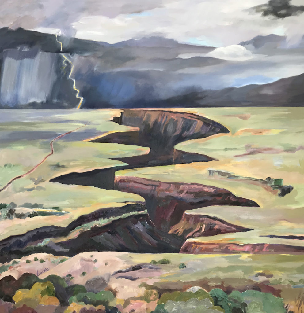 Linsay Locke: Approaching Storm Taos Gorge