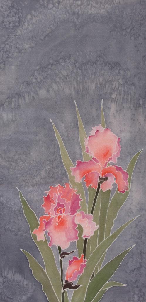 Dorothy Bunny Bowen: Iris 1 - Silk Painting