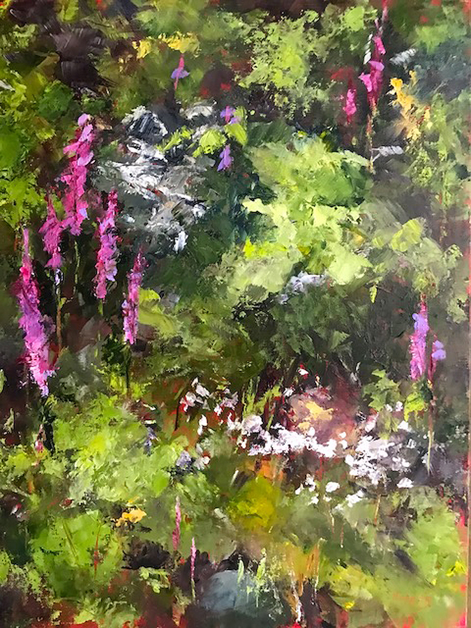 Carol Hopper: Cliff Tangle of Wildflowers - Fireweed