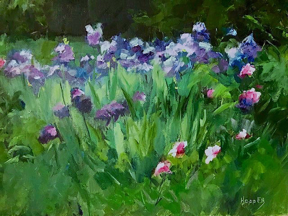 Carol Hopper: Field of Irises