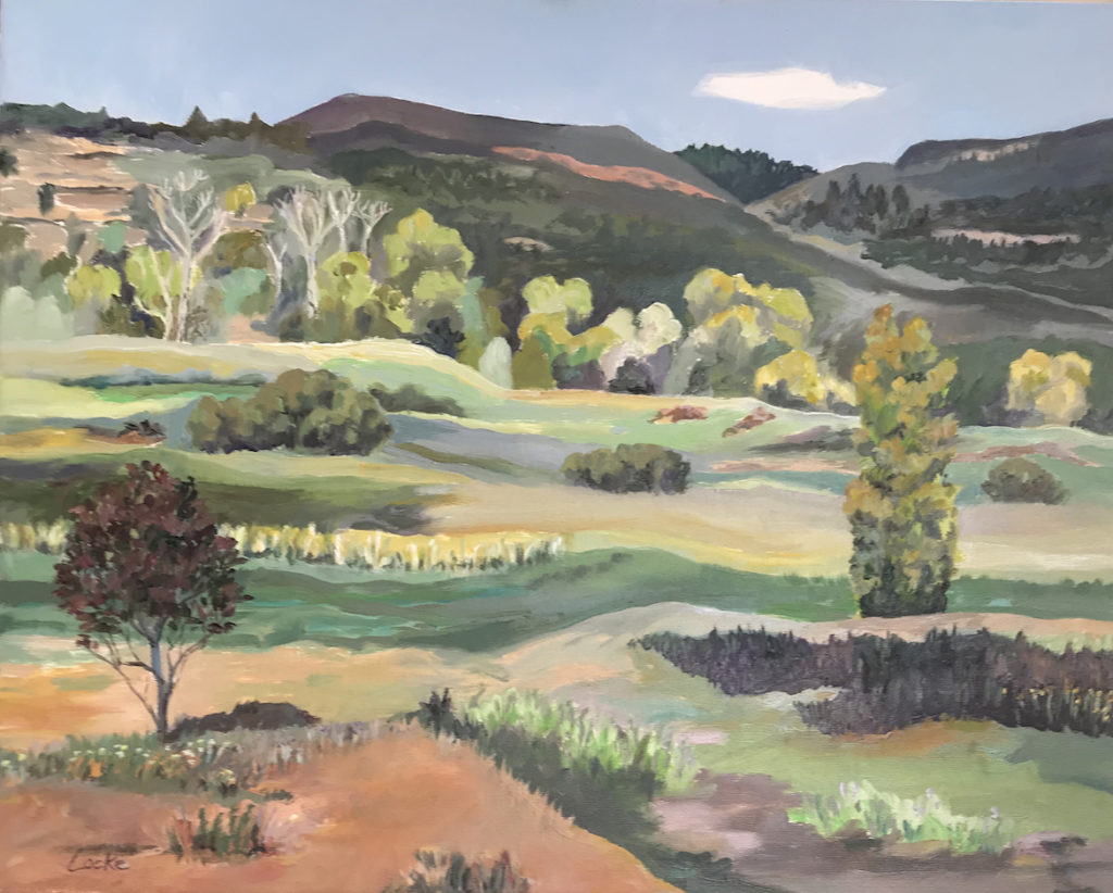 Linsay Locke: Pecos Monastery Fields