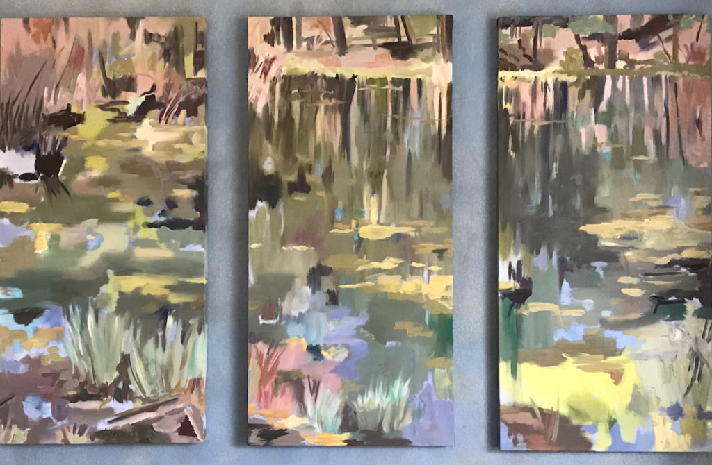 Linsay Locke: Pond at Fenton Lake (Triptych)