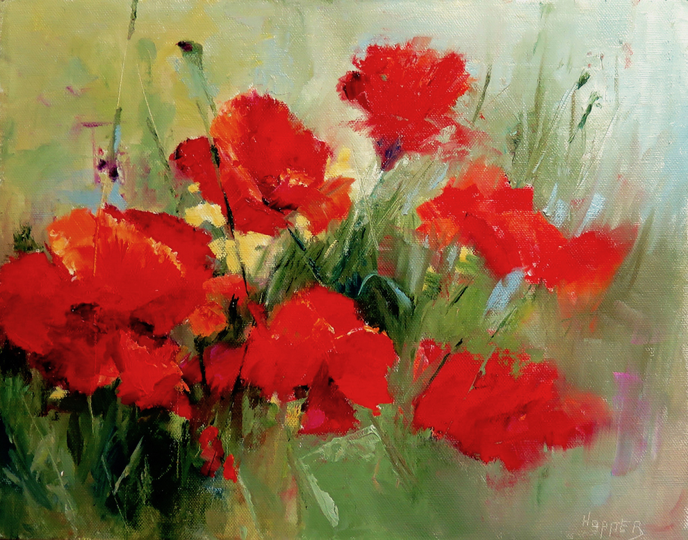 Carol Hopper: Red Poppies