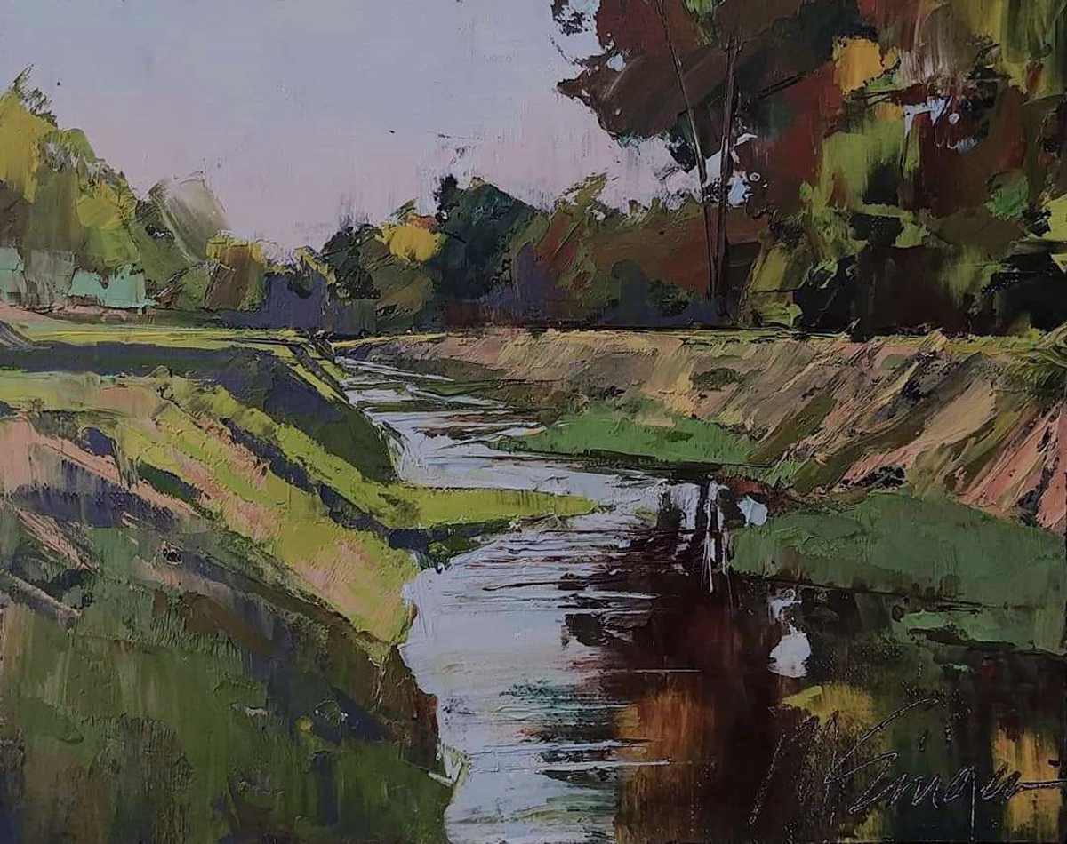 Monty Singer: Acequia Summer Evening