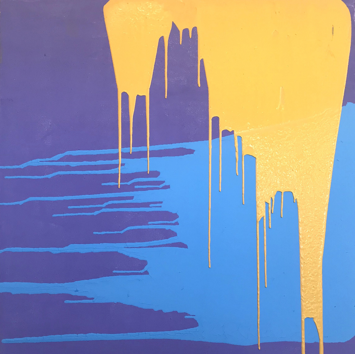 Ashton S. Phillips: Blossom (Gold on Blue on Lavender)