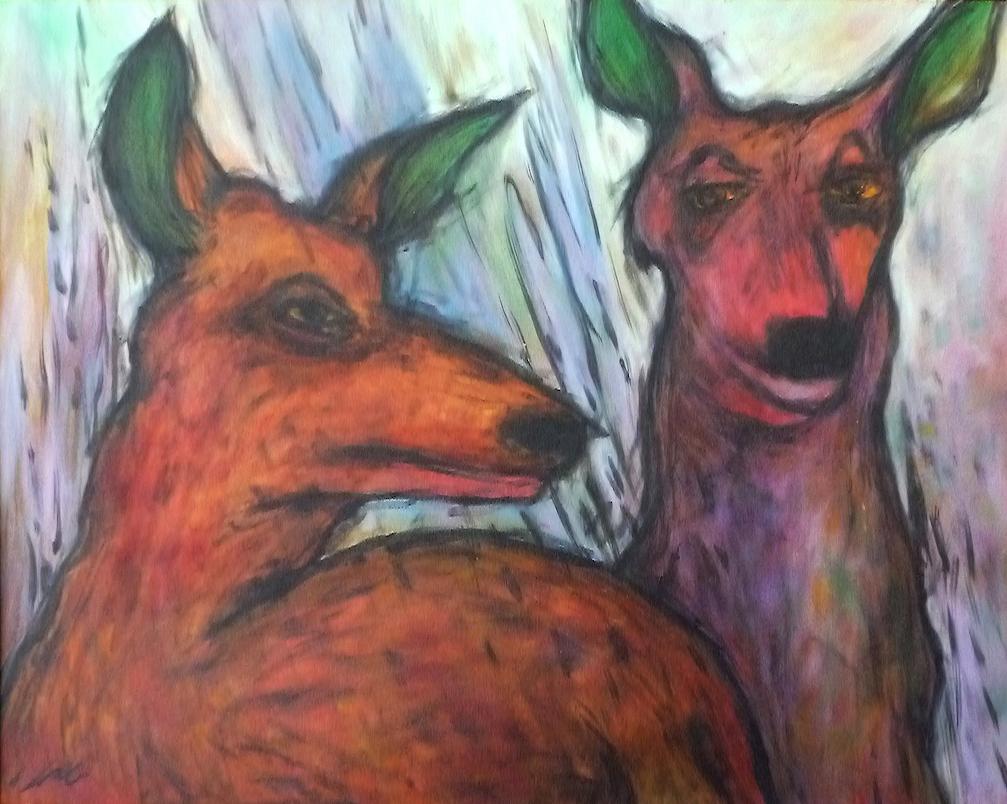 Lesley Long: Deer in Rain
