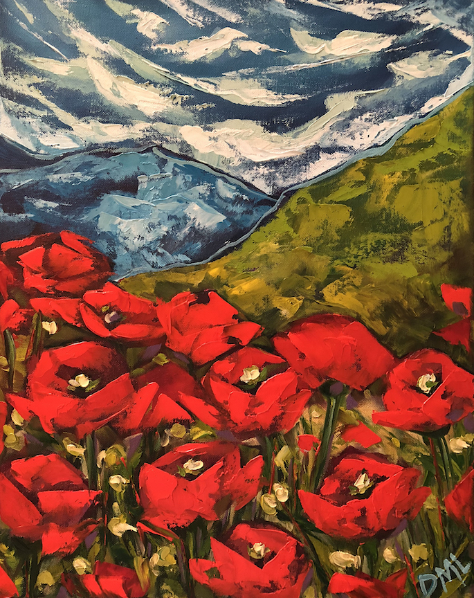 Enchanting Poppies 16 x 20 2